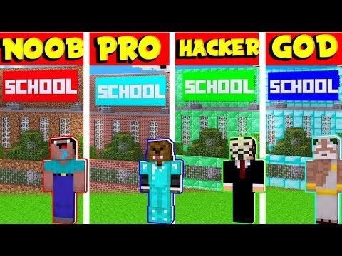 Noob Vs Pro Vs Hacker Vs God School Escape In Minecraft