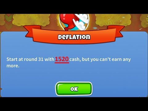 Bloons Tower Defense 6 - Beating Deflation Mode with Only $1520! Personal Best