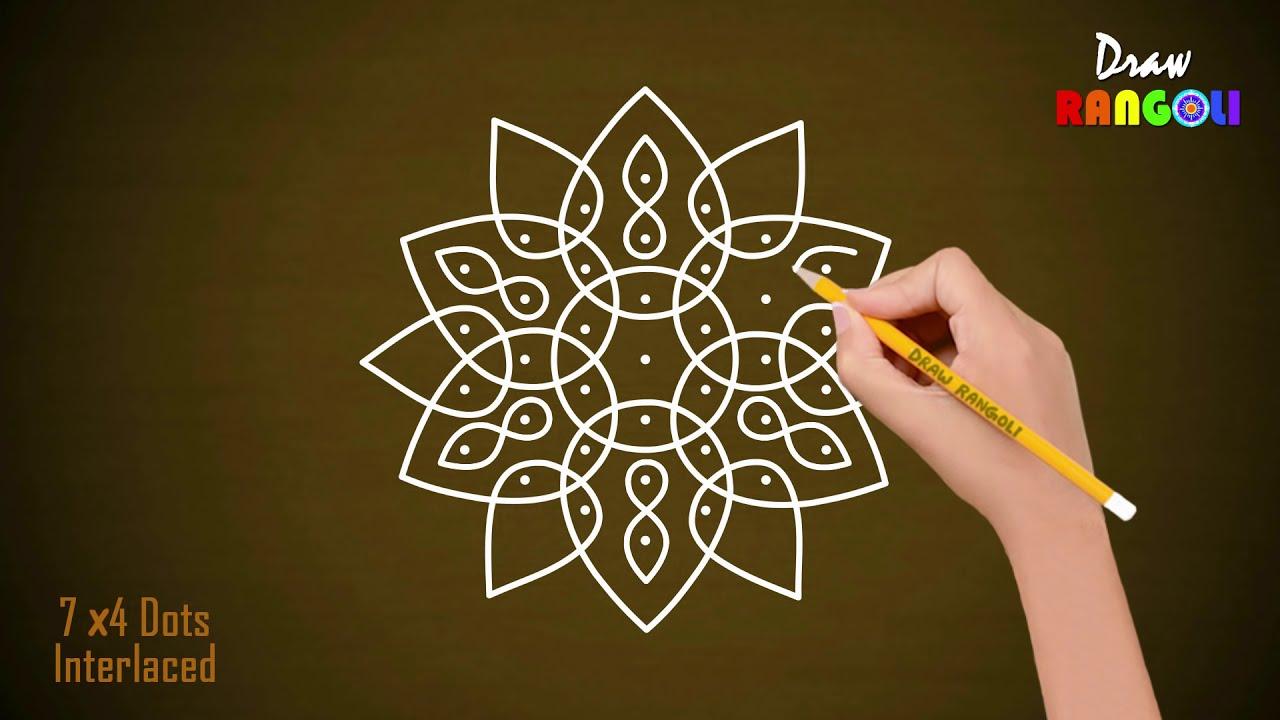 muggulu rangoli design mandala chukkala by draw rangoli
