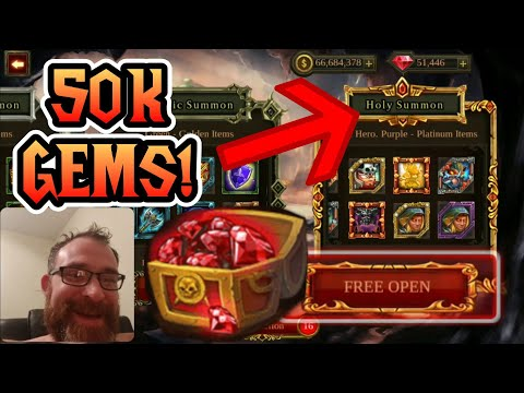 50K GEMS in Holy Summon! What do you get!? - Epic Heroes War Gameplay