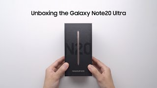 Galaxy Note20 Ultra: Official Unboxing | Samsung thumbnail