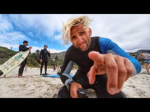 Surfing Shark Infested Waters.  also scorpions