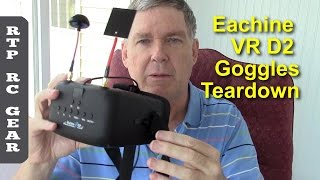 Teardown of Eachine VR D2 Diversity FPV Goggles with DVR - Tear Down and Mods