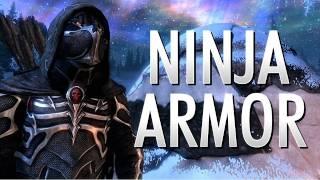 SKYRIM - Ninja Armor Mod (Craftable Black Sacrament Armor Mod)