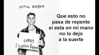 Justin Bieber - Sorry (Latino Remix / Audio) ft. J Balvin Español Lyrics