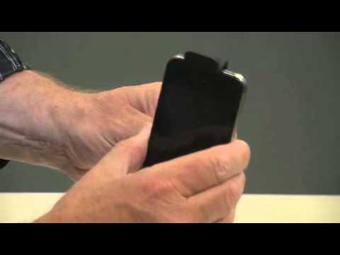 Callstel Kfz-Schwanenhals-Halterung mit Ladefunktion für iPhone bis 4s
