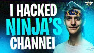 I HACKED NINJA'S CHANNEL! (Fortnite: Battle Royale)