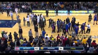 Paul George and Marcus Morris shoving match: Indiana Pacers vs. Detroit Pistons