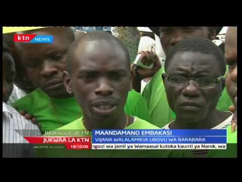 Jukwaa la KTN: Maandamano Embakasi; Vijana walalamika ubovu wa barabara, Disemba 6 2016 part 1