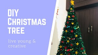 DIY Christmas Tree. Make Beautiful Christmas Tree At Home,using Cardboard Boxes.