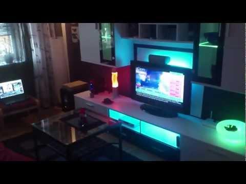 IKEA LED DIODER -Wohnzimmer indirekte Beleuchtung Living Room Wohnwand