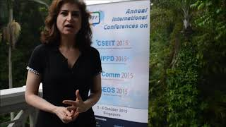 Dr. Tamara Kelly at UPPD Conference 2015 by GSTF Singapore