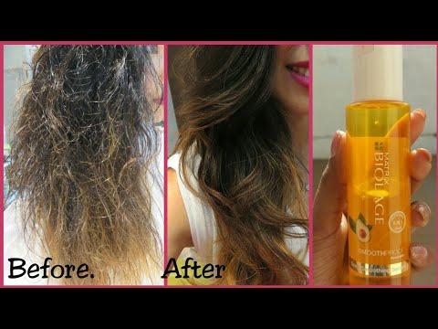 , title : 'How To Use Hair Serum | Matrix Biolage Deep Smoothing Serum | Review | Hindi'