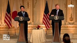 WATCH: President Trump holds joint news conference with Japanese Prime Minister Shinzō Abe