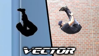 ALL THE TRICKS from Vector In Real Life (Parkour game)