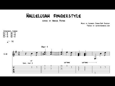 Hallelujah TAB - acoustic fingerstyle guitar tab - PDF - Guitar Pro
