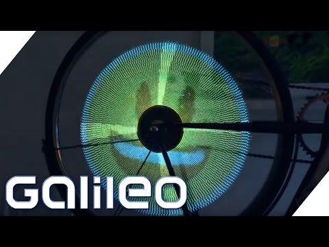 Leuchtende Bilder in Fahrradspeichen: Die Balights | Galileo | ProSieben