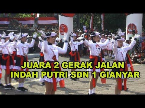 Juara 2 Gerak Jalan Indah Putri SDN 1 GIANYAR TAHUN 2019