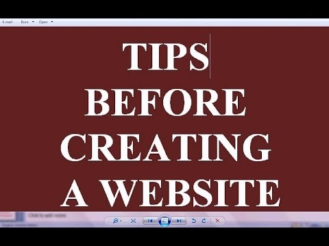 Important tips , Know before creating a website ( tutorial - 1)