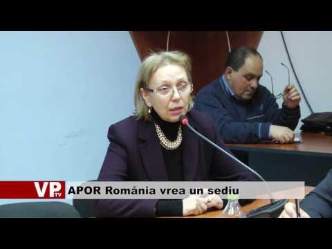 APOR România vrea un sediu