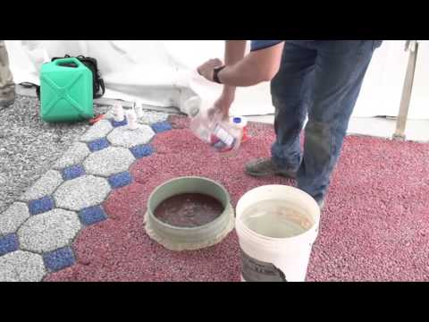 ASTM C 1701 Infiltration rate of Pervious Concrete Demonstration