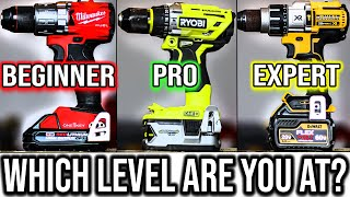We Ranked Every DRILL/DRIVER From Beginner LVL To Expert LVL (What Level Are You?)