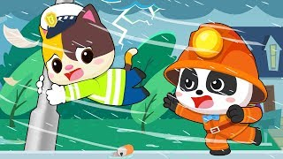 Storm is Coming | Firefighter Song, Police Cartoon, Ambulance | Kids Songs | Kids Cartoon | BabyBus