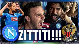 NAPOLI 2-0 NIZZA | ZITTITI! LIVE REACTION GOL CURVA B CHAMPIONS LEAGUE HD