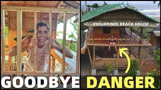 BecomingFilipino – DANGEROUS BEACH HOUSE? Bamboo Construction In The Philippines… Goodbye Railings!