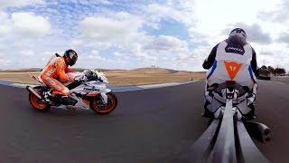 GoPro Spherical: Fun Laps and Fast Wheelies on the BMW S1000RR Superbike