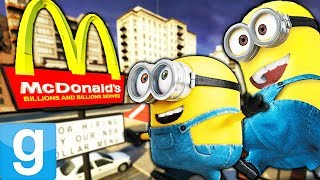 THE MINIONS WORK AT MCDONALDS?!?! | Gmod Sandbox Fun