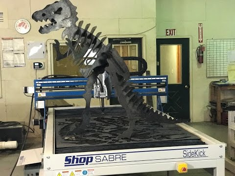 ShopSabre SideKick Cutting a T-Rex Dinosaurvideo thumb