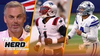 Cam shows real structure in Week 2, talks Cowboys' comeback win VS Falcons — Colin | NFL | THE HERD