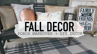 DECORATE WITH ME FOR FALL & DIY FALL DECOR FOR YOUR PORCH // FALL PORCH TOUR 2018