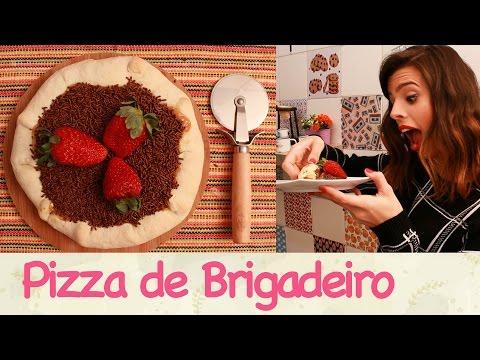 Pizza de Brigadeiro com Borda de Doce de Leite