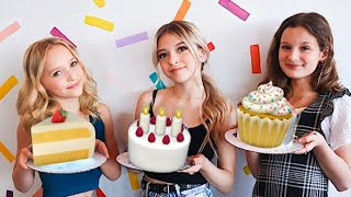Satisfying Cake Decorating | Galaxy Mirror Cake | Coco Quinn Hayley LeBlanc & Lilly K