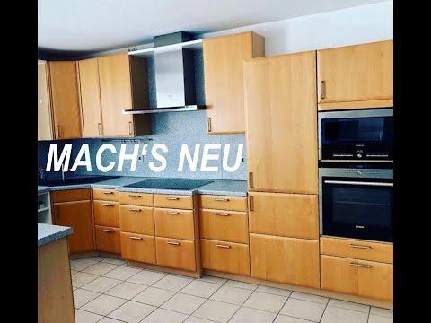 Küche folieren mit unseren Möbelfolien vorher und  nachher