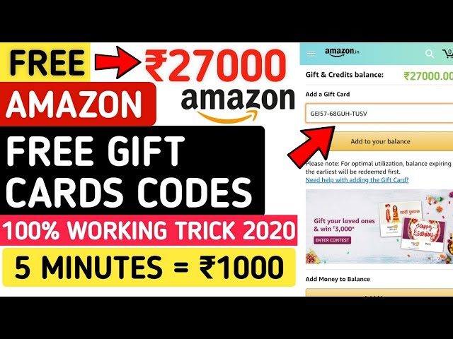How to】 Get free Gift Cards For Amazon India