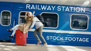Railway Station Stock footages