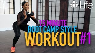 15 Minute Boot Camp Style Workout Pt. 1 | Fit Class | CBC Life