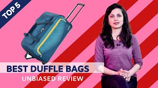 ✅ Top 5: Best Duffle Bags In India With Price 2020 | Travelling Bags Review