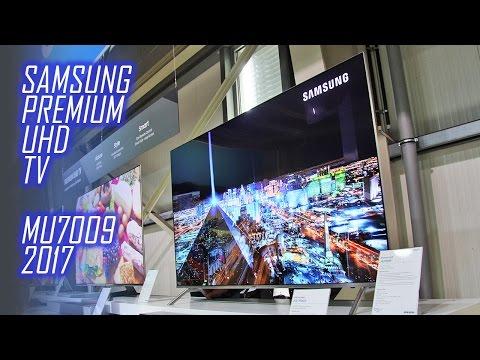 SAMSUNG MU7009 Flat Premium UHD TV mit HDR 1000 für 2017