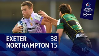 Exeter Chiefs vs Northampton Saints (38-15)   Heineken Champions Cup highlights