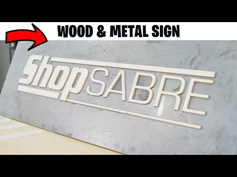 Custom Wood + Metal Sign – ShopSabre CNC Plasma Router Combination Tablevideo thumb
