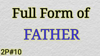 Father Meaning In Hindi