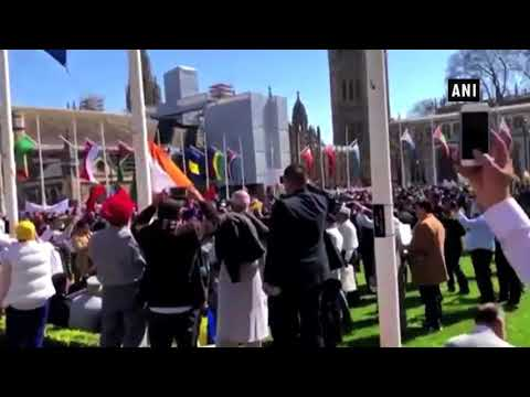 Pakistan sponsored  PoK–Khalistani elements burn Indian flag in London