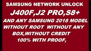 Samsung J400f country Lock Unlock Fail UMT         - hmong video