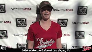 2020 Makenzie Gillan Second Base Softball Skills Video - Lil Rebels Las Vegas