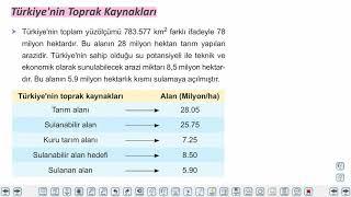 Eğitim Vadisi 11.Sınıf Coğrafya 8.Föy Türkiye'nin Doğal Kaynakları 1 Konu Anlatım Videoları