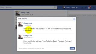 Facebook How To Edit or Delete Posts and Comments